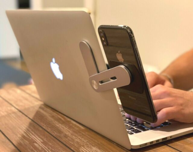 Dual Display Side Mount Clip For Tablet Phone Dock To Laptop Holder Black For Sale Online Ebay