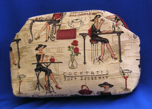 Belgian-Tapestry-Coin-Purse-Paris-Cafe-Design-French-Small-Woven-Purse
