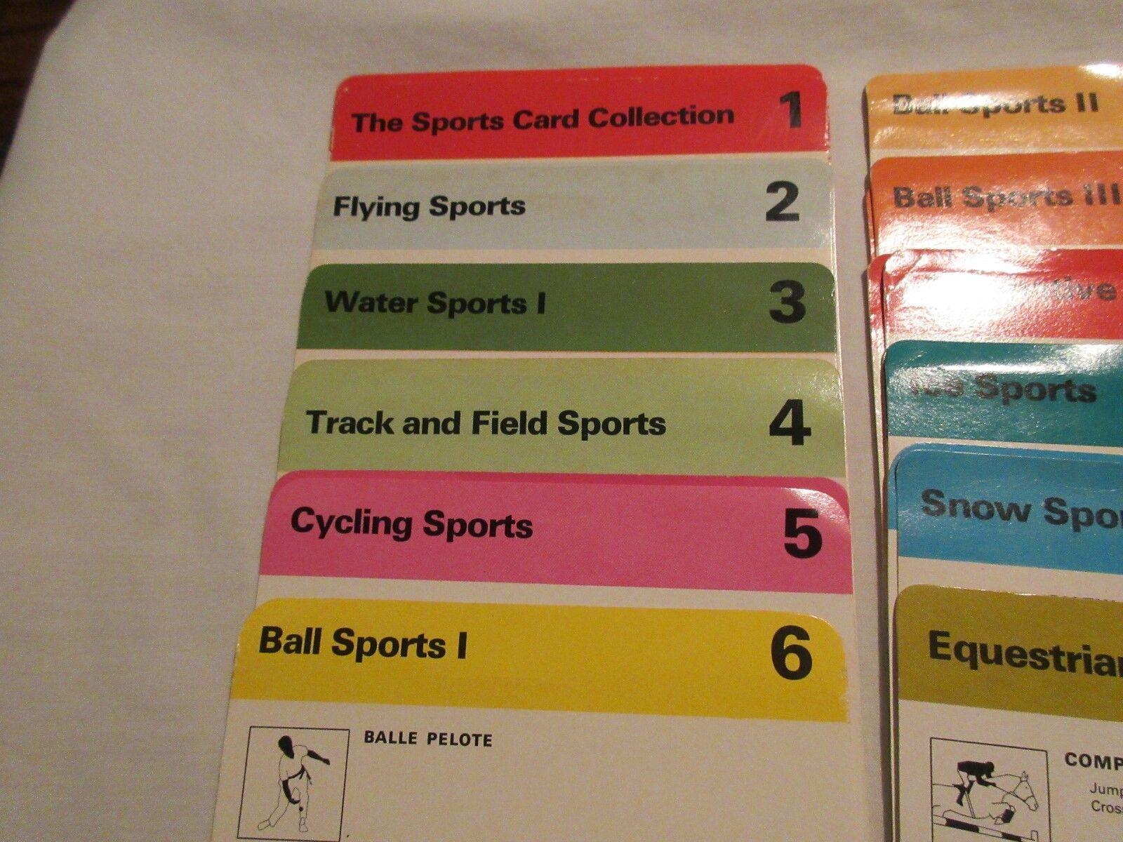 Sportscaster Cards , 1978 , Dividers Set , # 1 - # 18 (