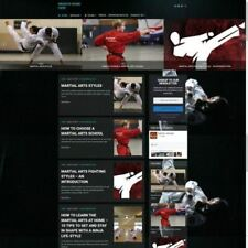 Martial Arts Store Mobile Friendly Responsive Website Business For Sale