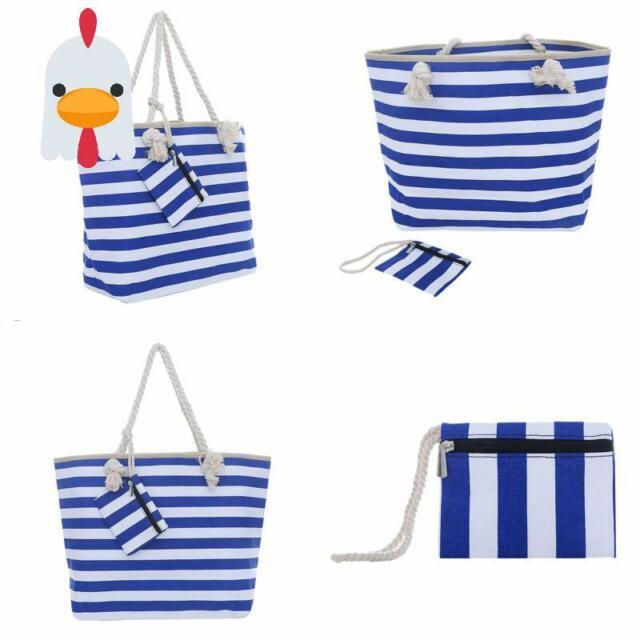 "Damen Strandtasche Frauen Rucksack ""Island"" Mix /& Match-Design Maritime Streifen"