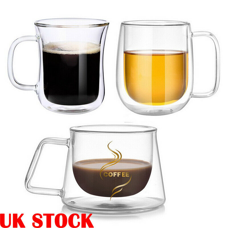 Set of 26 Double layer heat resistant tea Glass Coffee Cups