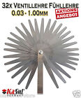 Kasul®germany | 32 Blatt Abstandslehre Fühlerlehre Ventillehre 0.03-1.00mm