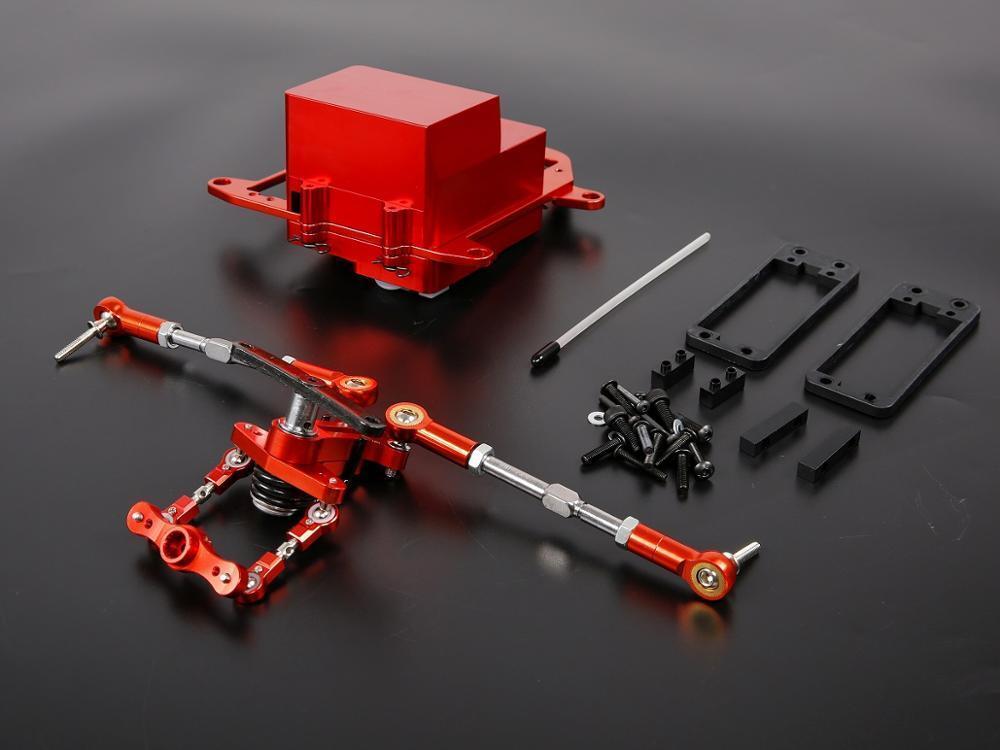 Cnc - metall - batterie fall mit symmetrischen steering - kit fr hpi baja teile rovan