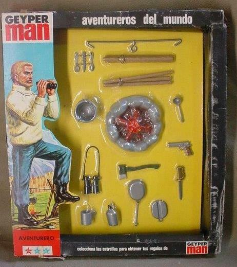 VINTAGE HASBRO GI JOE GEYPER MAN SOTW ADVENTURER GEYPERMAN CAMPING SET 1975