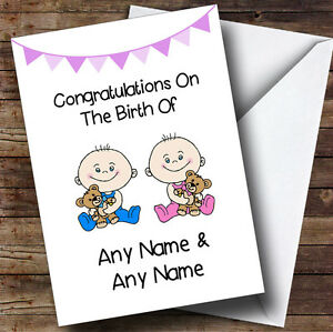 new baby arrival baby boy girl twins personalised new baby