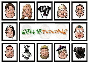 Caricature head from selfie/photo perfect gift for just a fiver!