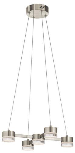 Avenza LED Brushed Nickel 5 Light Pendant//Chandelier $867