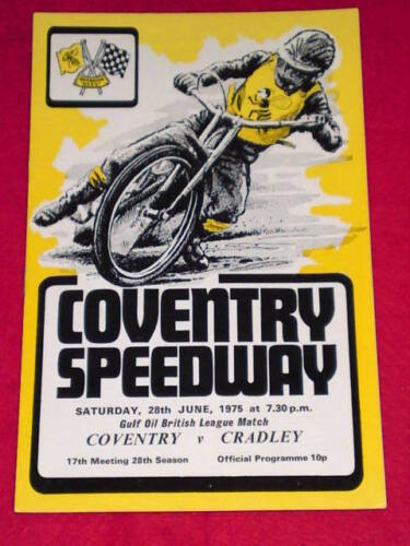 SPEEDWAY Coventry v Cradley June 28 1975