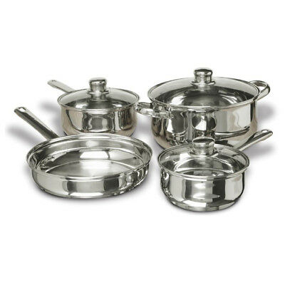 CONCORD 7 PCS Stainless Steel Cookware Set. Pots Pans
