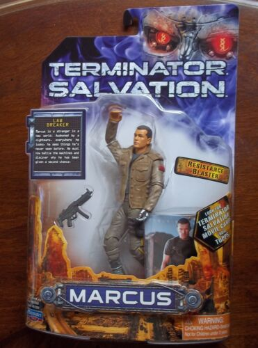 WITH RESISTANCE BLASTER. 6 INCHES TERMINATOR SALVATION MARCUS ACTION FIGURE
