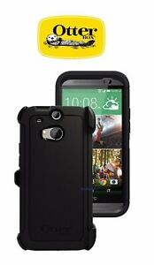 buy online 2252d 7e5fe Details about New OtterBox Defender Series Case & Holster for HTC One M8 -  Black 77-38919