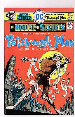 HOUSE OF SECRETS #140 DC COMICS 1976 NM UNREAD ORIGIN PATCHWORK MAN