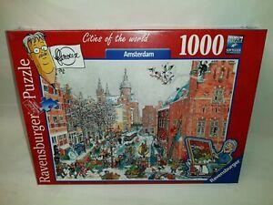 1000-Pieces-Ravensburger-Puzzle-Amsterdam-En-Hiver-Pour-Le-Roux-Ovp
