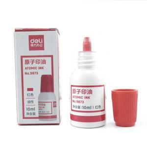 10ml-Deli-Refilling-Ink-Stamp-Pad-Waterproof-Permanent-Red-Blue