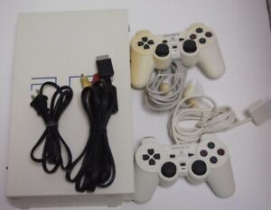 Sony Playstation 2 PS2 White Console SCPH-55000 w/2Controllers Working