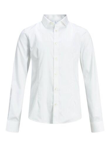 Jack /& Jones Junior Jungen Anzugshemd Hemd weiß festlich JPRPARMA 12151620