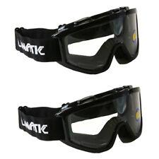 2 Pack Lunatic Motocross Dirt Bike ATV MX Goggles Adult - Black - Single Lens