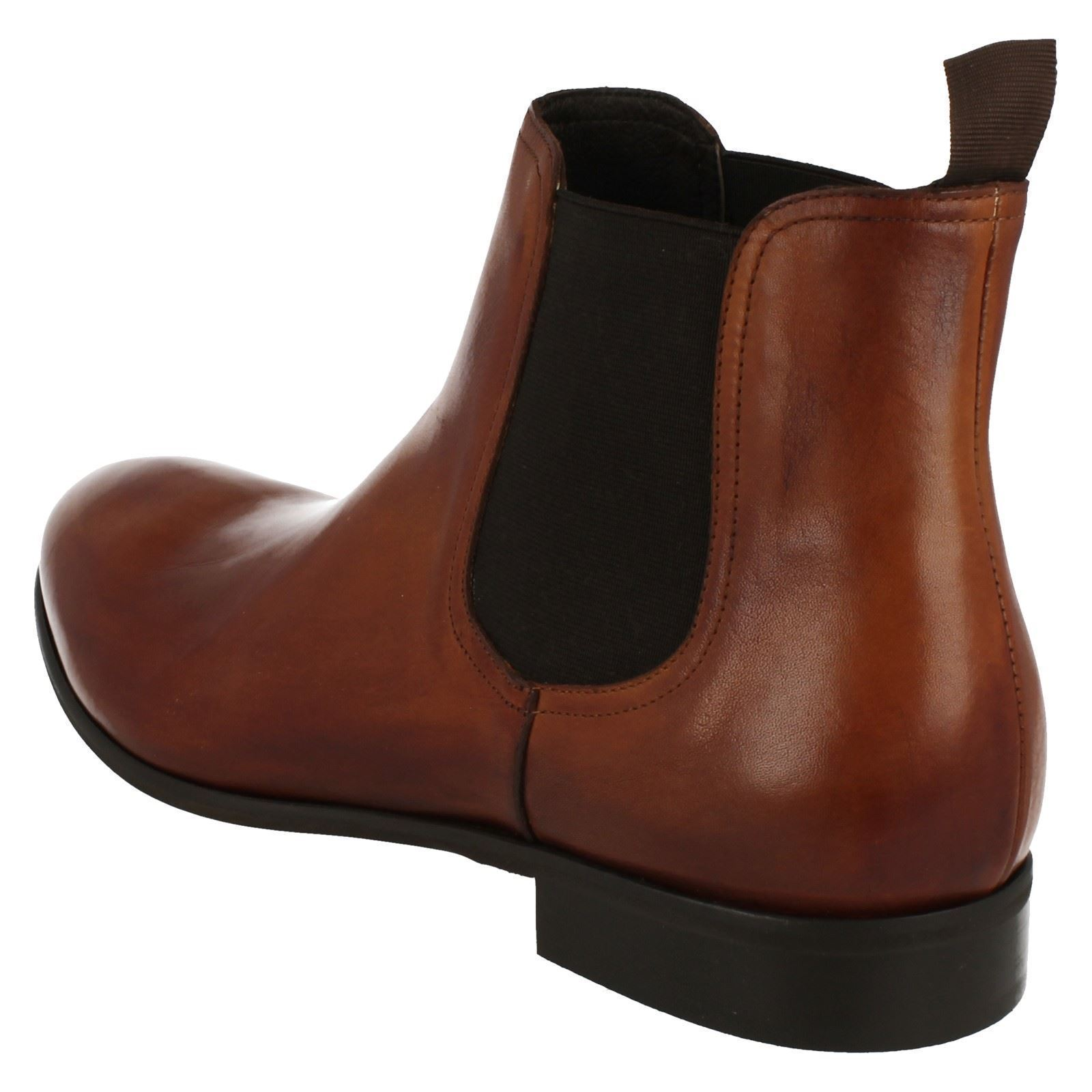 Morena Gabbrielli Gabbrielli Gabbrielli FA-D1696 Mens Smart 100% Leather Pull On Chelsea Ankle Stiefel   70ec6c
