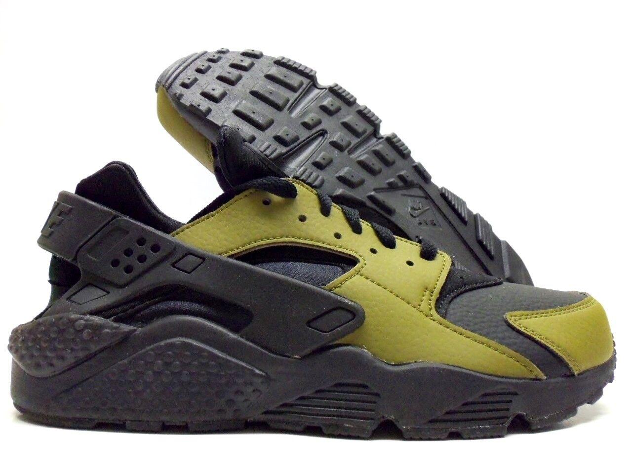 Nike air huarache correre id verde oliva / nero dimensioni uomini 9 [777330-985]