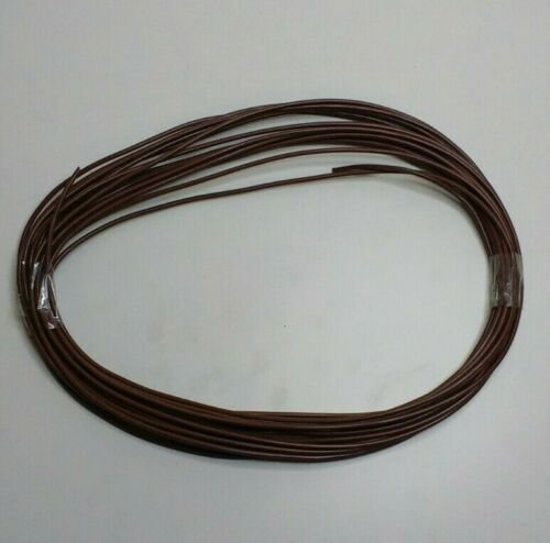 AUTOMARINE 12V 24V 5m LENGTH 14 AMP BROWN SINGLE CORE THIN WALL CAR BOAT CABLE