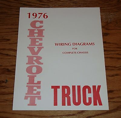 1976 Chevrolet Truck Wiring Diagram Manual for Complete ...
