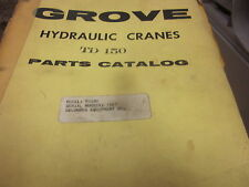 Grove TD 150 Hydraulic Cranes Parts Catalog Manual