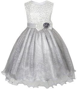Robe-Fille-Briller-Sequin-Mariage-Demoiselle-D-039-honneur-Reconstitution-Historique