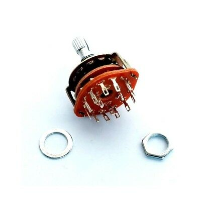 Stufenschalter 2p6t Drehschalter 2 Pole 6 Positionen 250v / 0,3a Rotary Switch