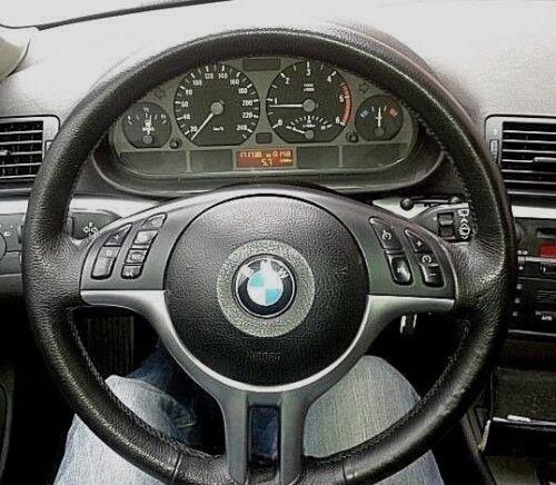 X 5 X 3 copri volante in vera pelle nera BMW e46