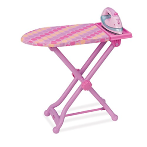 Kids Ironing Board Realistic Dress Up Pretend Play Colorful Toy Set Safe Durable