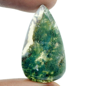 Cts-29-65-Natural-Landscape-Moss-Agate-Cab-Pear-Cabochon-Loose-Gemstones