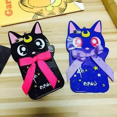 Sailor Moon Luna Cat Guardian Pet Soft Rubber Case For iPhone 6S / 6 / 6 Plus