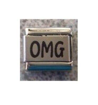 9mm Classic Size Italian Charm  L23 Text Speak  Emoticons  OMG