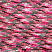 Pink Camo Paracord 50 Foot 550 lb 7 Strand Bracelet Camping Survival Rope