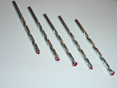 MASONRY QUALITY DRILL BITS 3,4,5,6,7,8,9,10MM BRICK//CONCRETE//STONE//WALL PACK OF