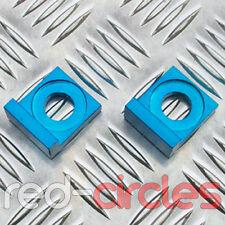 15mm BLUE ALLOY L BLOCK PIT BIKE CHAIN TENSIONERS ADJUSTERS 150cc 160cc PITBIKE