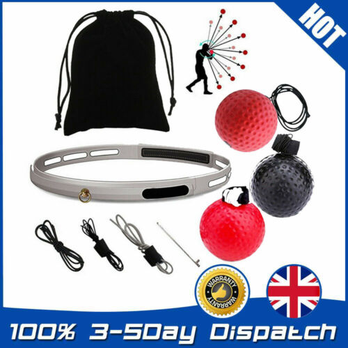 Boxing Punch Exercise Fight Ball Reflex Boxer REACT Speed Training Head Band.