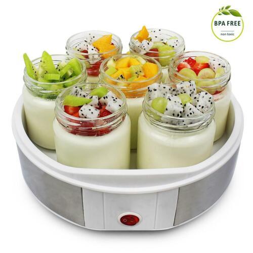 Macchina Per Yogurt Bianco 7 vasetti 23 x 23 x 12 cm