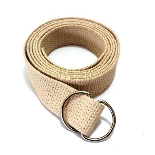 Cinturón de tela cinturón Cinturón Cinturón Banda algodón 30mm d anillos banda cinturón 100-160cm
