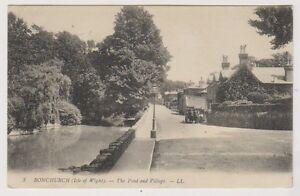 Isle-Of-Wight-Tarjeta-Postal-Bonchurch-el-Estanque-y-Aldea-Iow-Ll-3-P