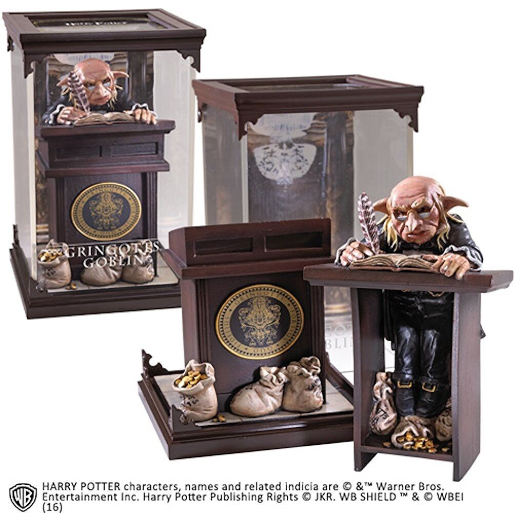 HARRY POTTER Figure Statue GOBLIN GRINGOTTS MAGICAL CREATURES NOBLE COLLECTION