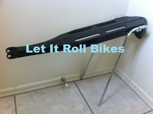 """Vintage Classic REAR RACK Black or Silver for 24/"""" or 26/"""" Bikes"""