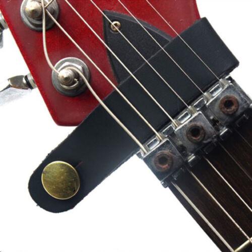 Black Acoustic Guitar Headstock Adapter Strap Tie+2 Red Blocks for Ukulele Bass