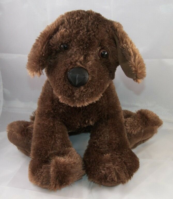 2012 JAAG Plush Beanie 15  Floppy Brown Chocolate Labrador Retriever Puppy Dog