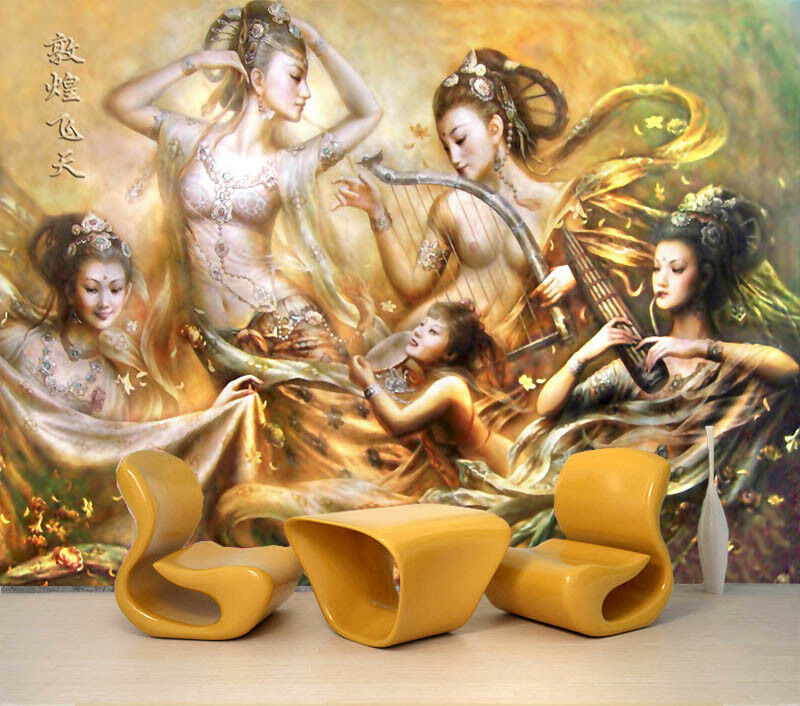 Dunhuang Flying 3D Full Wall Mural Photo Wallpaper Printing Home Kids Decoration