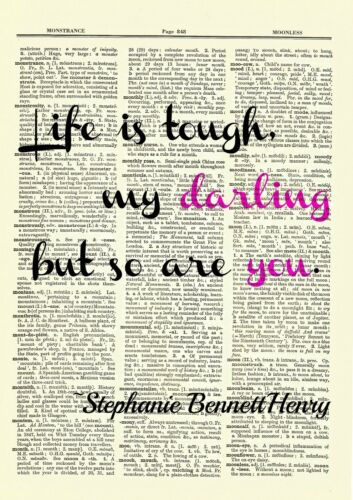 Strong Girl Quote Collection Dictionary Art Print Book Picture Poster Gift Set