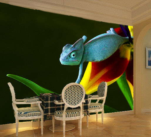 3D Plant Chameleon 78 Wall Paper Murals Wall Print Wall Wallpaper Mural AU Kyra