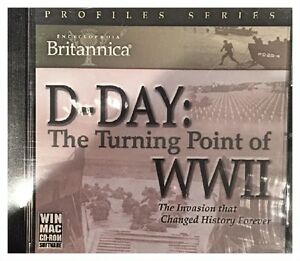 Britannica-D-Day-The-Turning-Point-of-WWII-Pc-Sealed-New-Free-US-Ship-Nice-XP