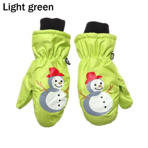 Kids Lovely Knitted Mittens Children Ski Gloves Windproof Thick Velvet